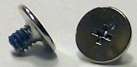 M2x2.5mm Nickel Wafer Head Machine Screw w/Nylok #10002