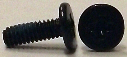 M2x6mm Black Wafer Head Machine Screw w/Nylok #10009