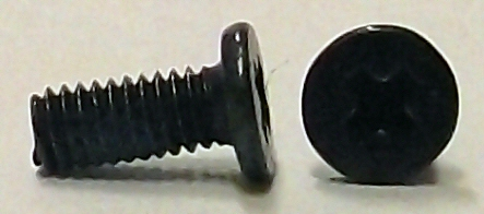 M2.5x6mm Black Zinc Wafer Head Machine Screw w/Nylok #10019