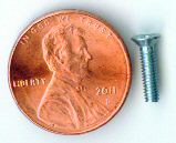 M2.5x10mm Zinc Flat Head Machine Screw #10074