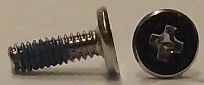 M2x6mm Nickel Wafer Head Machine Screw w/Nylok Patch #10138