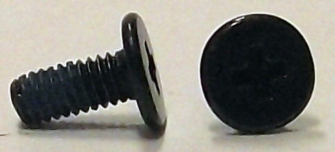 M2.5x6mm Black Zinc Wafer Head Machine Screw w/Nylok #10159