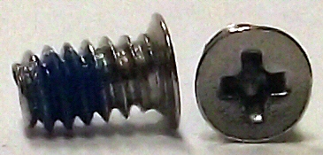 6-32 x 1/4 Nickel 120 Degree Flat Head Screw w/Nylok #10249