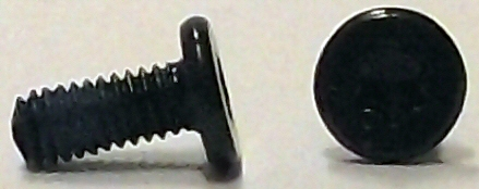 M2.5x6mm Black Zinc Torx Wafer Head Screw w/Nylok #10267