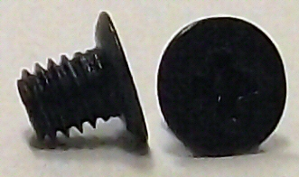 M3x4mm Black Zinc 120 Deg Flat Head Screw #10382