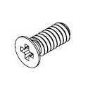 M1.2-0.25 x 3mm Black Zinc Flat Head Screw #10411