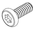 M1.4-0.30 x 3.5mm Black Zinc Torx Socket Head Screw