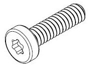 M1.6-0.35 x 6.0mm Black Zinc A2 SS Pan Head Screw