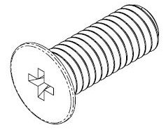 M3-0.50 x 8.00mm 302HQ SS Wafer Head Screw #10462