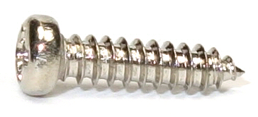 M2x8 Nickel Micro Type A Self Tapping Pan Head Screw #20643
