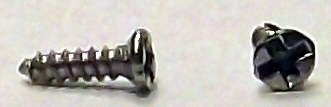 M1x4 Nickle Micro Type A Self Tapping Flat Head Screw #20657