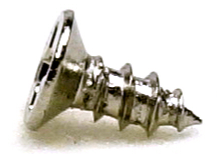 M2x5 Nickel Micro Type A Self Tapping Flat Head Screw #20672