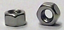 M1.4 DIN 934 Nickel Plated Hex Nut #20680