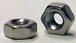 M1.6 DIN 934 Nickel Plated Hex Nut #20681