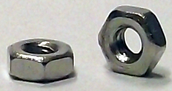 M2.0 DIN 934 Nickel Plated Hex Nut #20682
