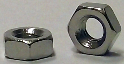 M3.0 DIN 934 Nickel Plated Hex Nut #20684