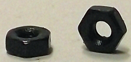 M2.0 DIN 934 Black Zinc Plated Hex Nut #20685