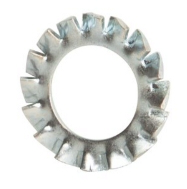 M3 Black Zinc External Serrated Tooth Washer #21200