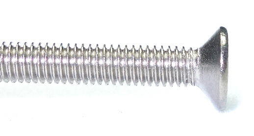 M1-0.25 x 2mm Nickel Flat Head Screw #20791