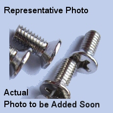 M1-.025 x 6mm C1018 / Nickel Flat Head Screw #20586